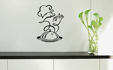 Wall Stickers Vinyl Decal For Kitchen Restaurant Dish Chef Food ig1557