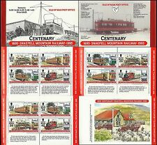 Ile de Man Locomotive Tramway Train Railway Eisenbahn ** 1995 Carnet Prestige
