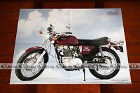 BSA 500 B50 B 50 GOLD STAR 1972 - Poster MOTO #PM135