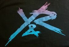 """MENS YOUNG & RECKLESS """"PURPLE TO BLUE"""" SIZE L BLACK"""