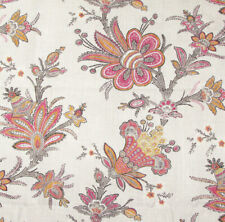 "2.1 meters x COLEFAX and FOWLER ""Rosella"" Linen fabric Floral Paisley"
