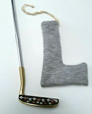 "Vintage Calico Gal Golf Putter 33"" overall, Floral Design, Old Master Grip, Usa"