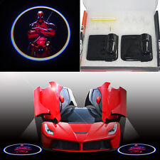 NEW Deadpool wireless car door step LED logo laser projector ghost welcome light