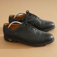 Nike Air Mens Golf Shoes Black Leather Lace Up Spiked Size 10 Waverly Last