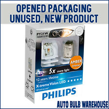 Philips X-tremeVision PY21W LED Car Bulbs (Opened Packaging, New Condition)
