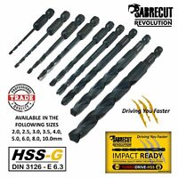 SabreCut Revolution Turbo-Drive HSS-G Impact Driver Compatible Drill Bits