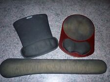 LOT OF 2 MOUSE PADS AND 1 KEYBOARD REST!!