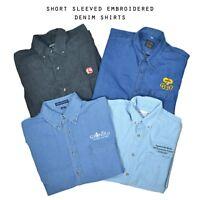 Vintage Short Sleeved Denim Shirts (Grade B) XS, S, M, L, XL, XXL
