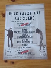 NICK CAVE - SIGNED AUTOGRAPHED 2013 Australia Tour Poster - Laminated