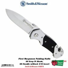 Smith & Wesson First Response Folding Knife, SS Drop Pt Blade #SWFR