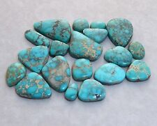 Natural Lone Mountain Spiderweb Turquoise Cabochons, 22.5 carats