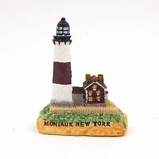 Small Lighthouse Figurine Montauk New York Resin Collectible Souvenir Building