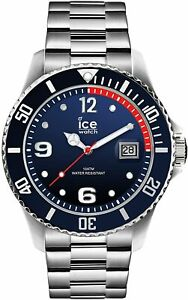 Ice-Watch Men's Marine Silver Blue Dial Stainless Steel Watch 015775 RRP £135