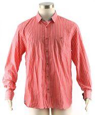 TED BAKER Men's Salmon Pink Stripe NIPANI Long Sleeve Dress Shirt ~ Sz 5 XL NEW