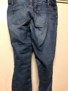 Womans Dotti Denim Size 12 Patched Blue Jeans