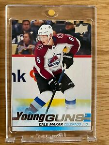 2019-20 CALE MAKAR UPPER DECK YOUNG GUNS ROOKIE CARD #493 COLORADO AVALANCHE