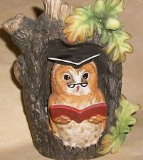 WISE OWL IN FOREST Figurine LEONARDO Collection Foreign, New!  FREE SHIPPING!
