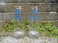 Pair of vintage Harp lager half pint glasses - Irish vintage bar collectables