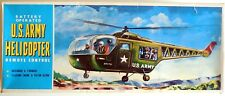 VINTAGE TIN TOY BATTERY OPERATED U.S. ARMY HELICOPTER  TAIYO MADE IN JAPAN 196?