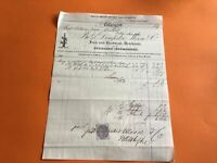 Dempster Moore & Co Glasgow 1880 Engineers Ironmongers  receipt   R36663