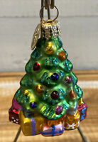 """Radko """"Giving Tree"""" Christmas Ornament 01-791-0 Little Gems Collection 3"""" Tall"""
