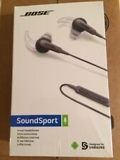 Bose SoundSport In-ear Headphones Charcoal Black New & Sealed!