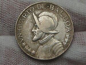 Better Date Silver 1934 ¼ Balboa Panama.  #29