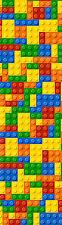 Lego blocks colourful children bedrooms wall border room decor