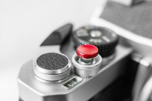 RED Metal Shutter Button Soft Release Metal Concave -  Fuji XT2 X20 X100 etc