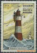 Reklamemarke - Leuchturm Rotesand, Nordsee, Siegrin-Sahnen-Magarine (#26004)
