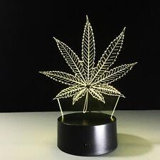 Maple Leaf 3D Night Light 7 Color Change LED Desk Table Light Lamp Toy Gift