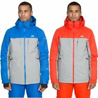 Trespass Mens Ski Jacket Waterproof Padded Snow Coat with Zip Off Hood