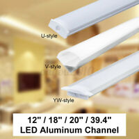 U/V/YW Shape Aluminum LED Channel Track Holder 1M/3.3FT For LED Strip Light Bar