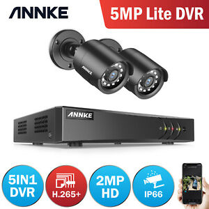 ANNKE 8+2CH 5MP Lite DVR Recorder 3000TVL CCTV Camera Security System Night IP66
