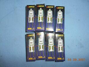 Lot of 8 SATCO S3120 20W 12V G4 halogen light bulb Bi Pin