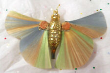ANTIQUE / VINTAGE GLASS MOTH BUTTERFLY CHRISTMAS ORNAMENT