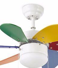 Ventilador techo con luz Palao multicolor 33179 Ø76cm. faro