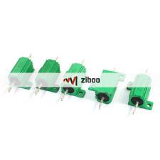 5Pcs 450Ohm 25Watt Aluminium Clad Wirewound Heatsink Resistors Green 63x28x15mm