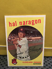 1959 Topps # 376 HAL NARAGON ... READ BELOW ... INDIANS **..RB-6495