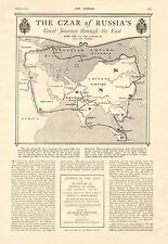 1901 ANTIQUE PRINT- THE CZAR OF RUSSIA'S GREAT JOURNEY THROUGH THE EAST