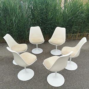 Knoll International Saarinen Tulip Chair Stuhl 151 original 70er 6 Stück Vintage