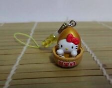 Hello Kitty Cosplay Golden Hot Spa Egg CellPhone Strap
