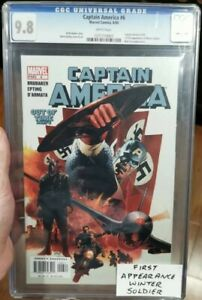 🔥CAPTAIN AMERICA #6 9.8 WHITE PAGES 1st Appearance Winter Soldier! DISNEY+ show