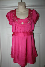 New Ladies Hot Pink Top Size S by Twenty One Womens Summer