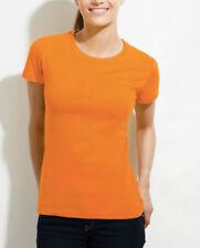 Camisas y tops de mujer de color principal naranja en 100% algodón