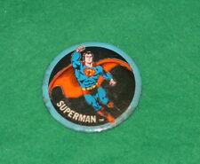 Vintage SUPERMAN TV Movie Sci-fi UK TIN Lapel BADGE 1970`s