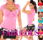 New Sexy Bolero Top Size 10 8 6 Hot Party Casual Wear Shirts Women's XS S M