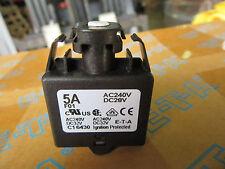 (2) E-T-A 1658-F01-00-P13-5A Circuit Breaker 5 Amp 240VAC/28VDC Series 1658 NEW!