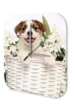 Orologio da parete  Decorativo Pratica Veterinario Marke Cucciolo di cane lingue
