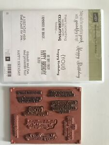 """Retired Stampin' Up! """"Remembering Your Birthday"""" Stamp Set"""